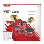 Evans Practice Pad, Rock Box Set w/Cymbal & Bass (SOSETROCK) 1