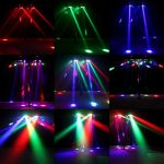 Spider Moving Head Light, U`King 9 Leds Heads X 10W RGB Stage Lighting Effect 12/19 Channels DMX-512 and Sound Activated Great for Wedding Disco Dj Party Lights 1