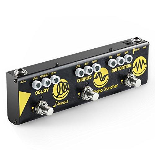 Donner Multi Guitar Effect Pedal Alpha Cruncher 3 Type Effects Delay Chorus