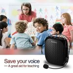 Portable Voice Amplifier SHIDU S258 10W Ultralight Rechargeable Mini Pa Speaker Supports MP3/TF/USB Professional Headset Microphone for Teachers Fitness Instructors and More 2