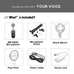 ZINGYOU BM-8000 Professional Studio Condenser Microphone Set, XLR Condenser Mic Bundle for Recording (Black) 1