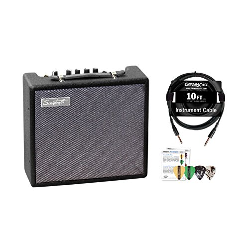 Sawtooth 10-Watt Electric Guitar Amp with Pro Series Cable and Pick Sampler