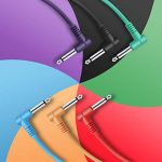 Donner 6 Inch Patch Colored 6-Pack Guitar Effect Pedal Cables 2