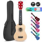Soprano Basswood Ukulele 21inch Starter Kit for Beginner with Gig Bag, Kids Ukulele Uke Hawaii Mini Guitar for Kids Adults and Beginners