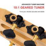 AKLOT Tenor Ukulele All Solid Bamboo Ukelele 26 inch Cutaway 18 frets 18:1 Advanced Tuner Machine w/Gig Bag Strap Picks 2