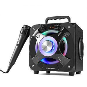 DOMEZAN Portable Karaoke Machine, Karaoke System with Wireless Bluetooth