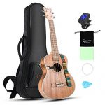 Hricane Concert Ukulele 23 inch UKS-2, 4 Strings Ukeleles For Beginners