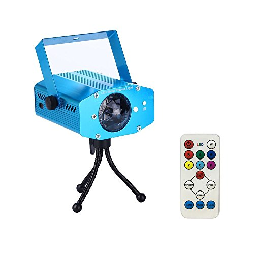 Starlight 7 Color Remote RGB LED Water Wave Ripple Effect Stage Light Lighting