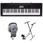 Casio CTK-3500 PPK 61-Key Premium Keyboard Pack with Stand, Headphones & Power Supply (Renewed)