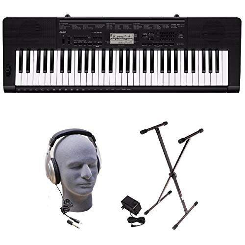 Casio PPK 61-Key Premium Keyboard Pack with Stand, Headphones & Power Supply
