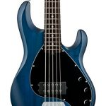 Sterling by Music Man StingRay Ray5 Bass Guitar in Trans Blue Satin, 5-String 1