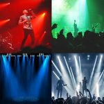U`King Moving Head Stage Light RGBW (4 in 1) DMX512 Rotating Stage Effect Lamp for DJ Disco Club Party Dance Wedding Bar Theater Pub Christmas Lights 1