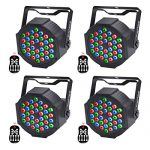 LED UP Lights,KisMee Stage Lights 36 x 1W RGB Sound Activated DJ Disco