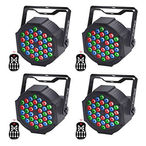 LED UP Lights,KisMee Stage Lights 36 x 1W RGB Sound Activated DJ Disco