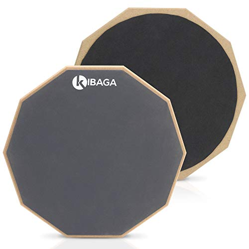 Double Sided Drum Pad 12 inches - Silent Drum Practice Pad