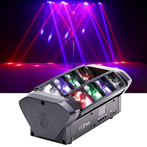 HSL Moving Head Light, DJ Spider Light Beam RGBW 4 Color Control