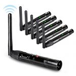 Donner 6pcs Black Metal Dfi DJ 2.4G Wireless 5 Receiver & 1 Transmitter Lighting