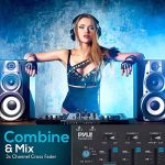 Wireless DJ Audio Mixer – 3 Channel Bluetooth Compatible DJ Controller Sound Mixer, Mic-Talkover, USB Reader, Dual RCA Phono/Line in, Microphone Input, Headphone Jack – Pyle PMX8BU 3