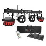 Chauvet DJ GigBar Flex Pack-n-Go Effect Lighting System with Tripod Speaker Stand Package 1