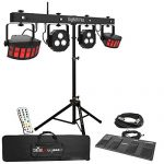 Chauvet DJ GigBar Flex Pack-n-Go Effect Lighting System with Tripod Speaker Stand Package