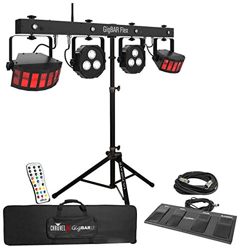 Chauvet DJ GigBar Flex Pack-n-Go Effect Lighting System with Tripod Speaker