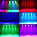 LED UP Lights,KisMee Stage Lights 36 x 1W RGB Sound Activated DJ Disco Party lights Remote Compatible with DMX-512 Controller for Wedding Party Club Church Mood Lights (36LEDs Par Lights 4 Pack) 2