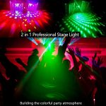 BSYUN Stage Lights Sound Activated RGBW LED DJ Lights Mixed Beam Lights Effects with Remote Control DMX 512 Controllable Party Lights for Wedding Birthday Dance Party 2