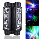 Betopper Mini Spider Moving Head Stage Light LED DJ Lighting RGBW