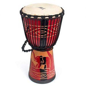 African Drum, Hand-Carved Bongo Congo Djembe Drum