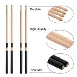 KASEMI Drum Sticks Non-Slip, 5A Wood Tip Drumstick (2 Pair) – Black 2