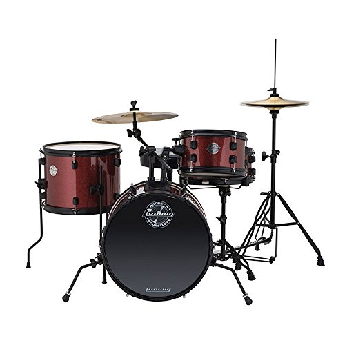 Ludwig Questlove Pocket Kit 4-piece Drum Set-Red Wine Sparkle Finish