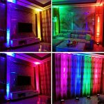 LED UP Lights,KisMee Stage Lights 36 x 1W RGB Sound Activated DJ Disco Party lights Remote Compatible with DMX-512 Controller for Wedding Party Club Church Mood Lights (36LEDs Par Lights 4 Pack) 3