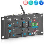 Wireless DJ Audio Mixer - 3 Channel Bluetooth Compatible DJ Controller