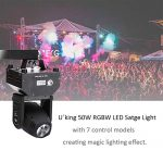 U`King Moving Head Stage Light RGBW (4 in 1) DMX512 Rotating Stage Effect Lamp for DJ Disco Club Party Dance Wedding Bar Theater Pub Christmas Lights 2