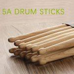KASEMI Drum Sticks Non-Slip, 5A Wood Tip Drumstick (2 Pair) – Black 3