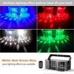 BSYUN Stage Lights Sound Activated RGBW LED DJ Lights Mixed Beam Lights Effects with Remote Control DMX 512 Controllable Party Lights for Wedding Birthday Dance Party 1