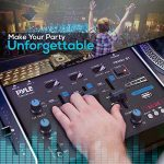 Wireless DJ Audio Mixer – 3 Channel Bluetooth Compatible DJ Controller Sound Mixer, Mic-Talkover, USB Reader, Dual RCA Phono/Line in, Microphone Input, Headphone Jack – Pyle PMX8BU 2