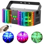 BSYUN Stage Lights Sound Activated RGBW LED DJ Lights Mixed Beam Lights