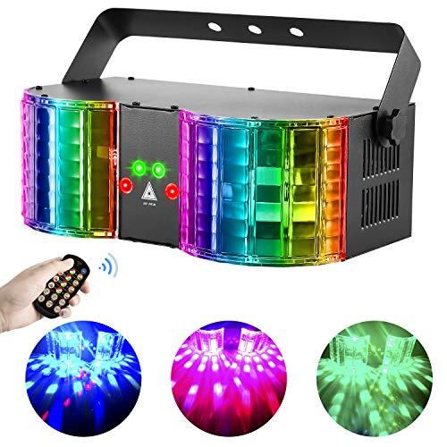 BSYUN Stage Lights Sound Activated RGBW LED DJ Lights Mixed Beam Lights