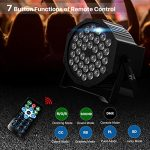 UP Lights, Missyee 36 X 1W RGB LED DJ Lights Sound Activated Stage Lights Package with Remote Compatible with DMX-512 Controller, 9 Modes LED DJ Lights for Wedding Birthday Party Club (4 Pack) 3
