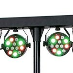 MUSYSIC MU-L31F Complete Professional 4-Par 4-in-1 Stage LED Lights DJ Band DMX System & Stand 1
