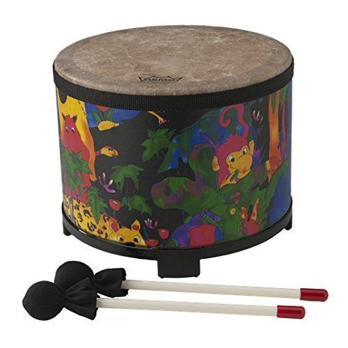 "Remo Kids Percussion Floor Tom Drum - Fabric Rain Forest, 10"""
