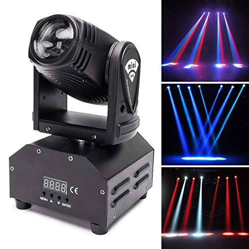 U`King Moving Head Stage Light RGBW (4 in 1)Rotating Stage Effect Lamp