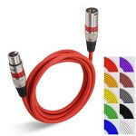 6 Ft XLR Cable 10-Pack, 6ft Short XLR Microphone Mic Patch Cable Multi-Colored- EBXYA 3-Pin Balanced XLR Male to XLR Female 1