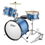 Eastar 16 inch 3 Piece Kids Junior Drum Set Kit with Throne, Cymbal