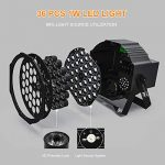 UP Lights, Missyee 36 X 1W RGB LED DJ Lights Sound Activated Stage Lights Package with Remote Compatible with DMX-512 Controller, 9 Modes LED DJ Lights for Wedding Birthday Party Club (4 Pack) 2