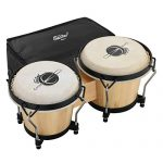 "Eastar EBO-1 Bongo Drums 2 Sets 6"" and 7"" Wood Percussion Instrument Bongos"