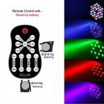 LED UP Lights,KisMee Stage Lights 36 x 1W RGB Sound Activated DJ Disco Party lights Remote Compatible with DMX-512 Controller for Wedding Party Club Church Mood Lights (36LEDs Par Lights 4 Pack) 1