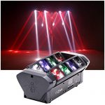 HSL Moving Head Light, DJ Spider Light Beam RGBW 4 Color DMX512 Control, Sound Activated, for Club Lights, Disco, Family Party, Wedding, DJ Scene 3