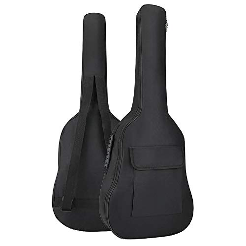 YiPaiSi 36 Inch Acoustic Guitar Gig Bag, Waterproof Guitar Case, Soft Guitar Backpack, Padded Dual Shoulder Strap, Soft Case Cover Adjustable Bag for Acoustic Classical Guitar